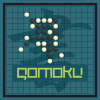 Gomoku is an abstract strategy board game also called Five in a Row.Black plays first, and players alternate in placing a stone of their color on an empty intersection. The winner is the first player to get an unbroken row of five stones horizontally, vertically, or diagonally.