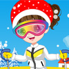 This cute girl is ready to tackle the slopes. Ready to ski? Have fun with your creations and once you're done simply print and share with your friends.