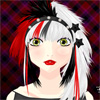 Let your imagination and your artistic expression rebel and go wild to create a unique hairstyle with a punk attitude. You can cut and dye her hair in different ways and with different colors, and you can also add extensions and accessories as well as change the girl`s appearance and make up for final results. Dare to be different!