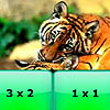 Tiger family math multiplication puzzle game.