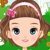 Cute Doll On Lawn A Free Dress-Up Game