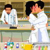 These 2 Chemists are very much attracted to each other, all they want to do is lock lips for a little while, the only thing stopping them is the other people in the lab. If they spot you 2 kissing you will lose one red test tube. If you lose all three test tubes its game over and you will need to try again. Do you think you have what it takes to get these two love birds off to a good start in their relationship?