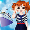 The cute girl want to be a navy when she grows up. She also likes to wear navy dresses and accessories. Pls choose the pretty makeup for her, and then select the best suits. Let her be a cute navy girl.