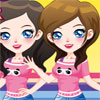 Dress up and give the cute twin sisters a makeover.
