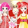 Twin Sister Girls Dress up game.