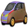 Cute car coloring