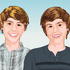 Twins Dylan and Cole dress up
