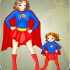 Super Mom and Kid Dress Up