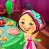 Alice has called her friends to home for the `Tea Party`. Help her to set up a Tea Table and dress her up for the party.