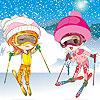Snow ski girls dress up game.