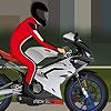 Gray motorbike