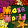 Maze World is a flash puzzle game with fun. The aim is to rescue little turtle from flower trap before time finishes.
