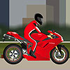 Red Motorcycle modify tuning driving game.