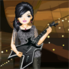 This girl loves her music, especially her guitar! She plays in a band and she`s the lead guitarist! They are performing a show tonight and need to look their best, the lead guitarists stylist has not turned up to help you get dressed! Its going to be down to you to choose the right outfit for the performance tonight! Go through all the items until you find something that looks good, good luck!...
