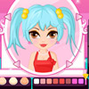 This game is made for girls who love make up. Add your touch to the cheek, the eyes, the lips and more.