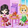 Cute Dolls Tea Party
