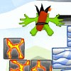 There are more hungry Sky Creatures in Kamikaze Blocks 2 now with Antigravity! Test your puzzle solving skills with the power of advanced physics by launching dynamite dudes at block formations. Try to knock all the magma and sky blocks off the top & bottom of the screen while avoiding obstacles like webs, chains, mazes and more!