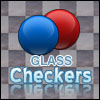A glass version of checkers game