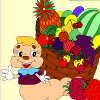 Kid`s coloring: More fruits is free coloring game for kids.