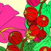Kid's coloring: Flowers and Berries