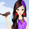Fashion Girl and Cute Birds