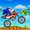 Description:  A Full charged Sonic is back with moto Adventure. Your main objective is to cross the obstacles on your way by controlling your bike. Collect more points to score high. Have a Fun Ride !