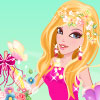 Beautiful flowers are in full bloom. Glamorous flower princess is going to select pretty flowers. She takes a flower basket and wants to decorate it with colorful flowers. Come to dress her up first. Beautiful flower princess is waiting for you!