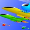 Feel the jet plane racing over the sky, you can play the game with your friend and the player who has got highest score is the winner.