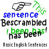 Bescrambled - Basic English Sentences A Free Education Game