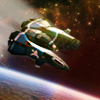 3d space flight simulator. Navigate your ship through? the space?. Collect bonuses and avoid of dangerous meteorites?