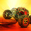 Choose your monster then race through desert obstacles and sand ramps, Can you drive till the end and survive with Desert Monster ? Play and unlock the other monster vehicles to win all the levels !