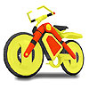 Yellow bicycle coloring A Free Customize Game
