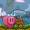 Nimble Piggy grew magic beans in the garden. Legend said that treasures can be found on the top. Piggy wants to go up to look for it. But those nasty monsters block the way and even the mighty Cthulhu is on the Piggy`s way. Another exciting game provided by the Nimble Piggy!
