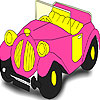 Pink old car coloring Game.