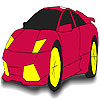Nice burgundy car coloring A Free Customize Game