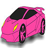 Gorgeous pink car coloring