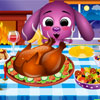 This year`s Thanksgiving Dinner is hosted by none other than cute Toto, and for this special moment, Toto cooks a turkey. Help him serve the most  appetizing dishes and make a tasteful decoration  before his guests arrive. If you can deliver, everybody will enjoy this moment, and you`ll remember this day forever. Happy Thanksgiving everybody!