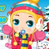 New Baby Ready For Winter A Free Dress-Up Game