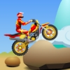 Ride the bike to conquer obstacles. Climb rocks, jump over gaps, etc. Use points earned to improve your ride.