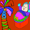 Palm and Baby Coloring Game
