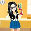 Secretary Girl Dress up game.