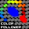 `Color Follower` is an EXTREMELY challenging abstract puzzle/skill game.   You control the red agent with the mouse. The blue agent will always follow you. If you want, click and hold the mouse button to make the blue agent follow the red agent faster. Guide both red and blue agents to the exit to complete the levels. Red dies if it touches red. Blue dies if it touches blue. Collect the green agents for extra points.  There are 30 levels.  Completing one level unlocks the next two levels. Even if you get stuck on one level you can skip it, make progress and come back to beat it later.  Thank you for playing! RatherRandom