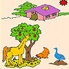 Animals on the farm coloring A Free Customize Game