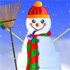 With a corncob pipe and a sweeping broom, Snowflake Jake only springs to life when the magic hat is placed on his head, but if a strong gust of wind knocks it off, then he`ll be immediately turned back into just a regular snowman. Dress up Jake for a big day of sledding and snowball fights!