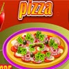 Play Decor your pizza game. Decor your pizza as your wish. Put onion, tomato, cheese etc and decor it.