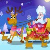 Happy Santa Claus and Reindeer A Free Customize Game