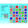 Going Straight is a puzzle game where the player tries to get 3 dice in a row to form a straight, each one value larger or smaller than the neighbor.