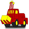 Big red tractor coloring A Free Customize Game