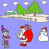 Snow and santa coloring