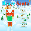 Help Santa to move down from mountain. Draw his way with your mouse pointer. Collect all items to enter the next level.